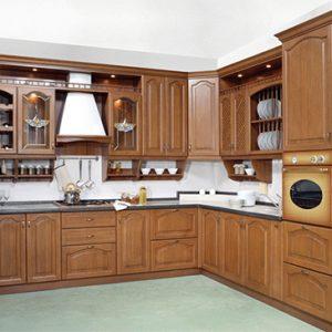 Tủ bếp gỗ căm xe 01
